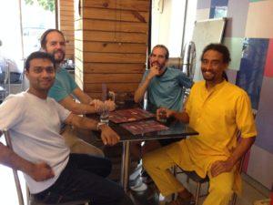 With brothers Hezequiel Castelli, Baraquiel Castelli & Bramhachari Jemalji